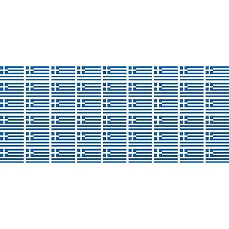 Mini Aufkleber Set Pack Glatt 20x12mm Sticker Fahne Griechenland Flagge Banner Standarte Fürs Auto Büro Zu Hause Und Die Schule 54 Stück Bürobedarf Schreibwaren