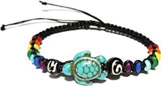 Turtle Hemp Bracelet -Turtle Bracelet with Turtle in Turquoise Color-Hawaiian Sea Turtle Bracelet-Starfish Bracelet -Turtles Hemp Bracelet