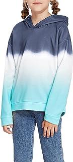Arshiner Kids Girls Casual Ombre Hoodies Sweatshirts Long Sleeve Tie Dye Pullover Tops