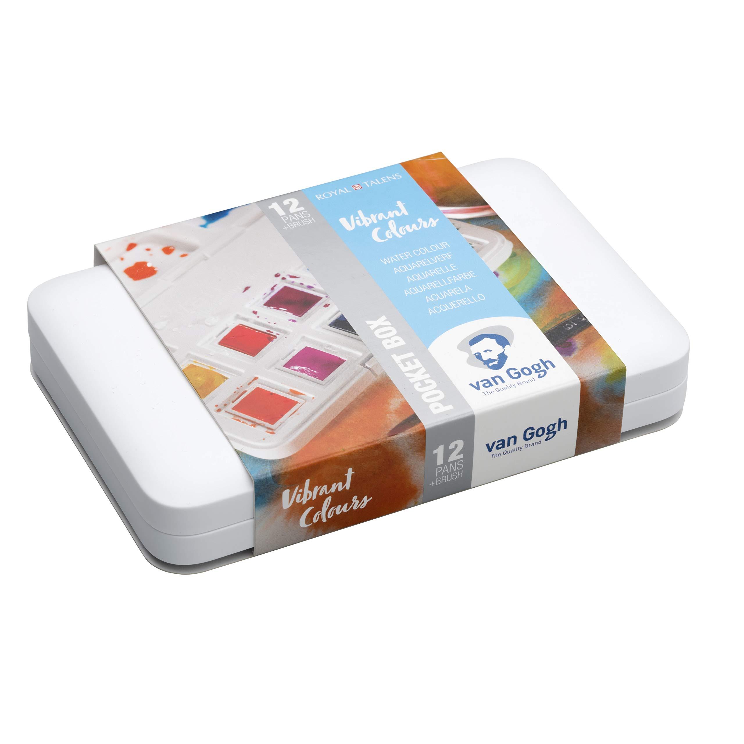 Royal Talens Caja De Acuarela De Bolsillo Van Gogh-Colores Vibrantes: Amazon.es: Juguetes y juegos