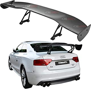 Silver Mad Hornets 135cm Universal Hatch Adjustable Aluminum GT Rear Trunk Racing Spoiler Wing