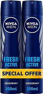 NIVEA, MEN, Deodorant, Fresh Active, Spray, 2 x 200ml