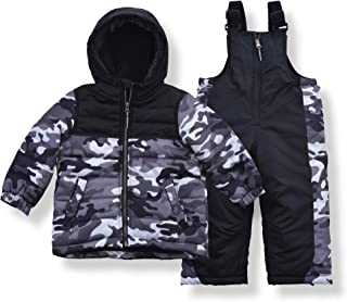 Arctic Quest Infant & Toddler Boys Ski Jacket and Snowbib Snowsuit Set