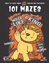 Lion Maze Book for Kids Ages 4-8: 101 Puzzle Pages. Custom Art Interior. Cute fun gift! SUPER KIDZ. King of the Jungle