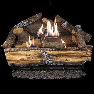 Cedar Ridge Hearth Recon 24-in 32,000-BTU Dual-Burner Vent-Free Gas Fireplace Logs with Thermostat