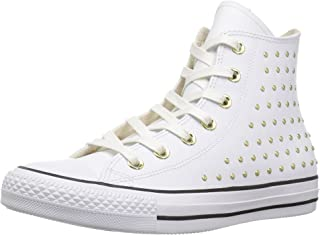 Women's CTAS Hi White/Gold Sneaker