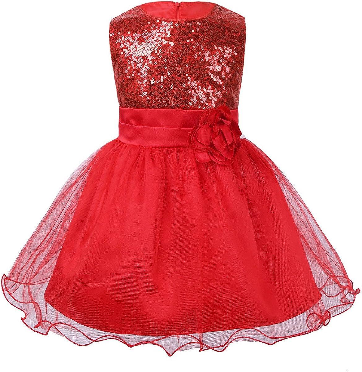 Cheap Freebily Little Baby Girl Dress Sleeveless Sequined Great interest W Tulle Tutu