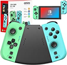 $39 » Joy Controller for Switch, Switch Controller Replacement with Ergonomic Handle Grip, Support Turbo/Dual Vibration/NFC Fuct...
