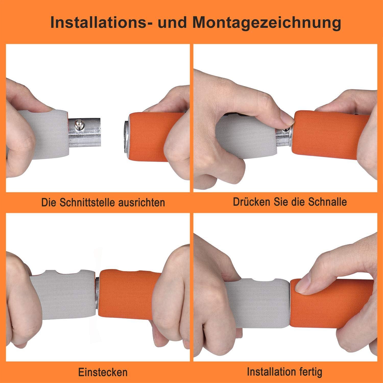 para fitness TOMPPOW Aro de fitness para adultos espuma gruesa tubo de acero inoxidable grueso casa moldear el abdomen para p/érdida de peso