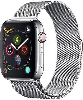 For apple watch バンド,コンパチブルiWatch通用ベルト,ミラネーゼループ アップルウォッチバンド apple watch ベルトapple watch series 1/2/3/4/5に対応 交換ベルトステンレス留め金製(42mm/44mm,シルバー)