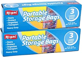 Ri Pac Portable Storage Bags L 15 x 15 Inch Bag - 6 Pack