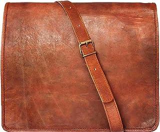 JAALD 33 cm echt Leder Laptoptasche Umhängetasche Schultertasche Kuriertasche FahrradTasche Schultasche Wasserdicht Vintag...