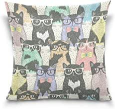 "MASSIKOA Cats Kittens Decorative Throw Pillow Case Square Cushion Cover 18"" x 18"" for Couch, Bed, Sofa or Patio - Only Cas..."