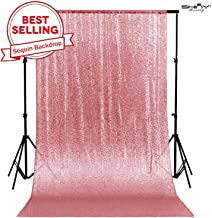 4FTx7FT Sequin backdrops,Fuchsia Pink Sequin Photo Booth Backdrop, Party backdrops, Wedding backdrops, Sparkling backdrops, Christmas Decoration (Fuchsia Pink)