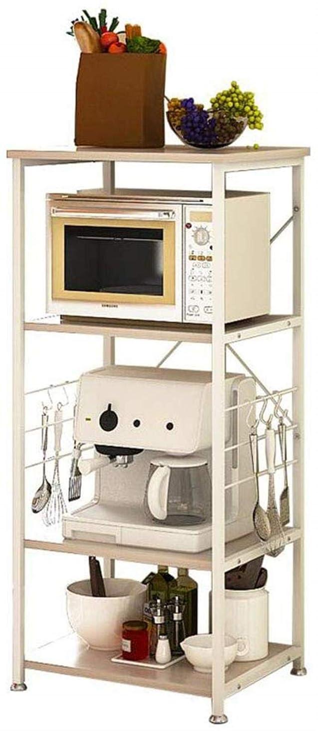 ダースうまくやる()クルー安定したキッチン棚電子レンジラック多機能ストレージフック付き4層(54 * 43 * 121 cm)スタンド耐久性