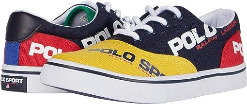 Navy/Yellow/Red/Green Canvas/Polo Sport Logos