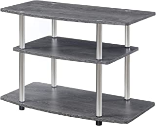 Convenience Concepts, Weathered Gray Designs2Go 3 Tier TV Stand