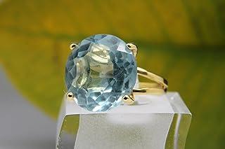 Blue topaz ring,gemstone ring,large cocktail ring,gold ring,custom rings,personalized ring,london topaz,birthstone ring