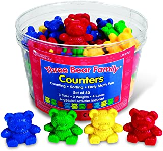 Learning Resources Bear Counters Set, Counting, Color & Sorting Toy, Set of 80, Ages 3+