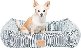 MOG & BONE Bolster Dog Bed Chambray Stripe Print Small