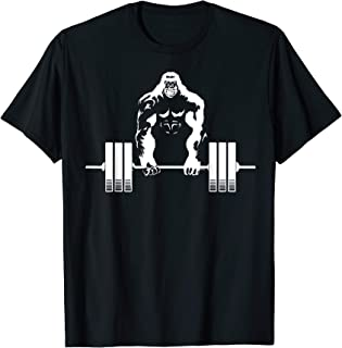 Weightlifting Gym angry gorilla shirt - Fitness gorilla tee