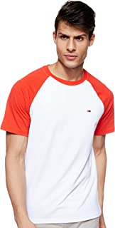Tommy Jeans Men's Tjm Contrast Sleeve T-Shirt