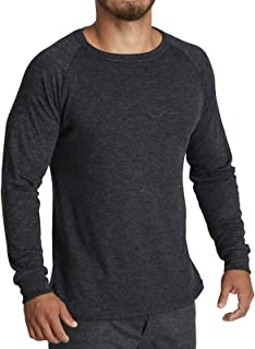 Men's Merino Wool Blend Long Sleeve Thermal Top Underwear Thermals Base Layer
