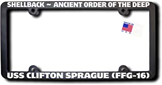Shellback USS CLIFTON SPRAGUE (FFG-16) License Frame w/Reflective Text