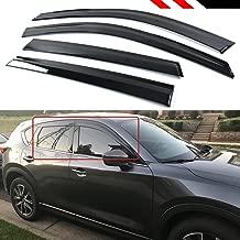 Cuztom Tuning Clip-on Type Smoke Window Visor Rain Guard Deflector Fits for 2017-2019 Mazda CX5 CX-5