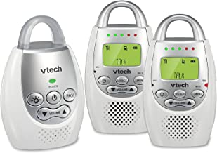VTech DM221-2 Audio Baby Monitor with up to 1,000 ft of Range, Vibrating Sound-Alert,..