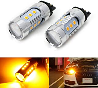 iJDMTOY (2) Amber Yellow CAN-bus PWY24W LED Bulbs For Audi A3 A4 A5 Q3 Q7 BMW i3 MINI Cooper F55 F56 Mercedes C-Class, GLK GLC Front Turn Signal Lights