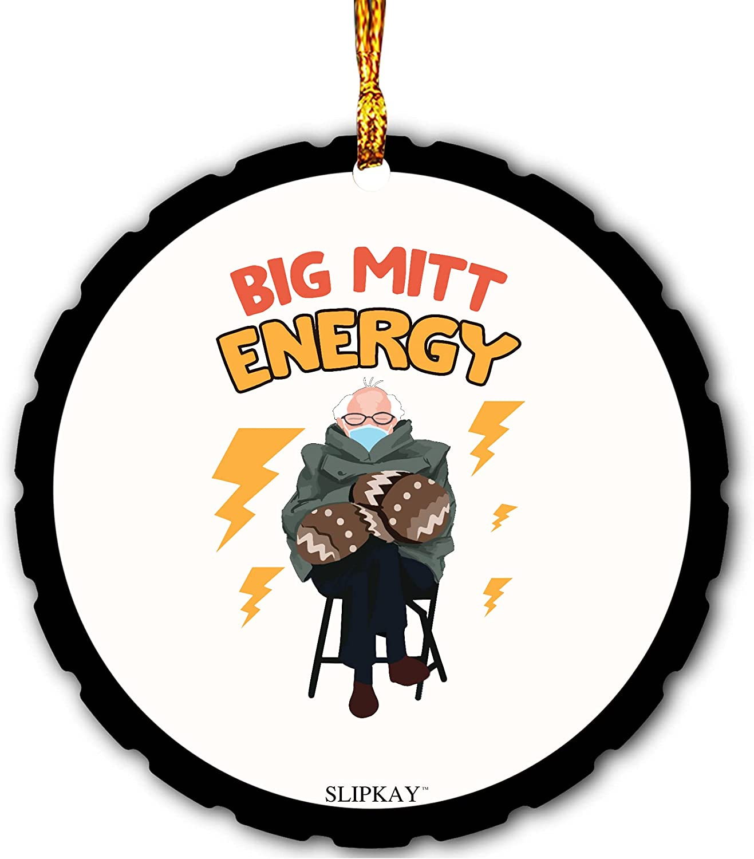 Bernie Mittens Big Mitt Energy Mica Ornament