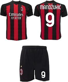 Completo Mandzukic Milan 2021 Ufficiale 2020-2021 Adulto Ragazzo Bambino Mario 9 Maglia Pantaloncini