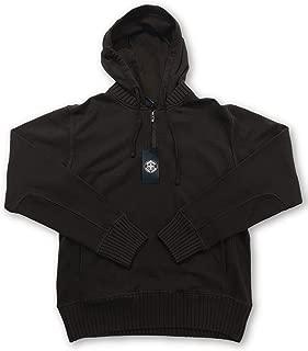 Swiss Cross sweatshirt hoodie in brown - M