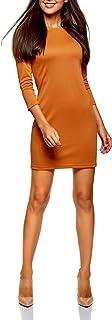 oodji Ultra Mujer Vestido con Decoración Metálica en los Hombros