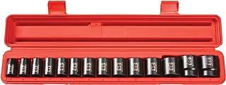 TEKTON 1/2-Inch Drive Shallow Impact Socket Set, Metric, Cr-V, 12-Point, 11 mm - 32 mm, 14-Sockets | 48171