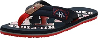 Tommy Hilfiger Men's Essential Th Beach Sandal Flip Flops, Black, 13 UK