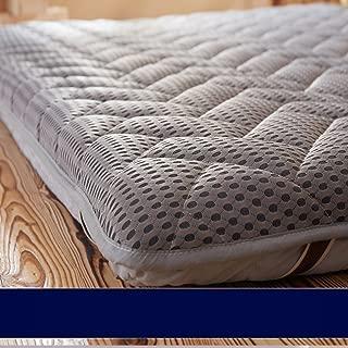 LJ&XJ Foldable Tatami Mattress,Knitting Foam Mattress Non-Slip Breathable Mattress Topper 10cm Thick Tatami mat Healthy Floor mat-Grey King