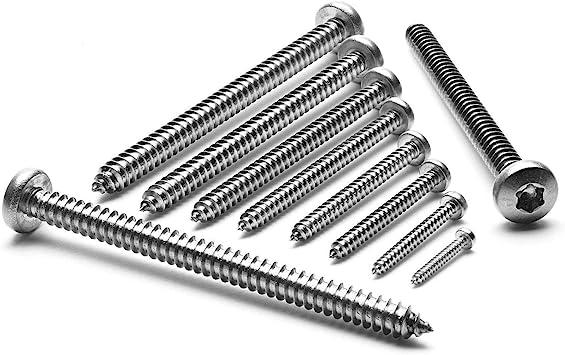 Blechschrauben Linsenkopf 3,5x50 Torx Edelstahl ISO 14585 DIN 7981 Bohrspitze-selbstschneidend 3,5 x 50 mm 25 St/ück