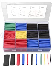 560PCS Heat Shrink Tubing 2:1, Eventronic Electrical Wire Cable Wrap Assortment Electric Insulation Heat Shrink Tube Kit with Box(5 colors/12 Sizes)