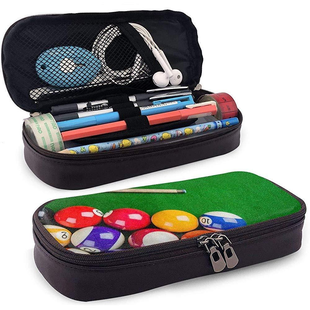 Bolas de billar con taco de billar PU Bolígrafo de cuero PU Bolso para bolígrafo 20 * 9 * 4 cm (8X3.5X1.5 pulgadas) Bolsa Estuche titular Monedero Monedero Bolsa de cosméticos: Amazon.es: