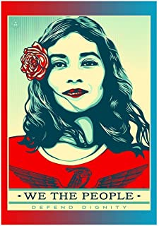 by COOLEST Graffiti Shepard FAIREY we The People Defend Dignity 2017 Poster 12 x 12 inch Poster Rolled