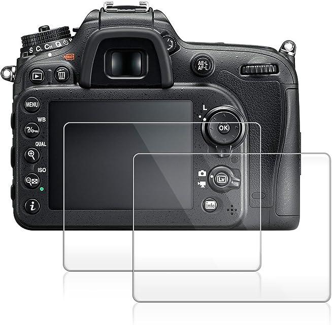 Protector de Pantalla de la Cámara para Nikon D7200 D7100 D800 D600 D610 D850 AFUNTA Antideslumbrante 9H LCD de Cristal Templado (Paquete de 2)