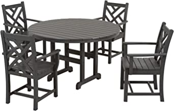 product image for POLYWOOD PWS122-1-GY Chippendale 5-Piece Dining Set, Slate Grey