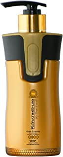 Keratin Cure Best Treatment Gold & Honey Bio Brazilian Soft Hair Complex with Argan Oil Nourishing Straightening Damaged D...