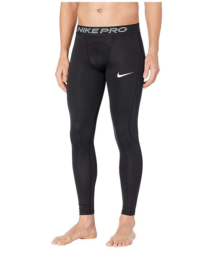Nike   Pro Tights (Black/White) Mens Casual Pants