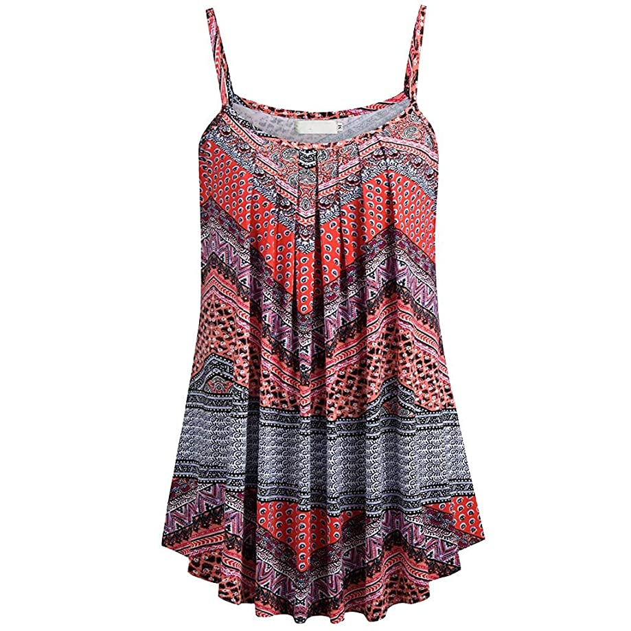 Eaktool Tank Tops for Women,Women Summer Printed Sleeveless Vest Blouse Tank Tops Camis Clothes