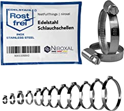 5 stuks slangklemmen met wormaandrijving van roestvrij staal W4 V2A RVS spanbereik Ø 30-45mm = 3-4,5cm bandbreedte 9-mm ro...
