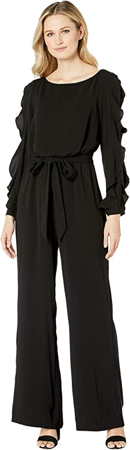 Fancy Crepe Ruffled Jumpsuit