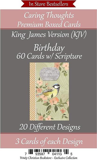 King James KJV 60 ct BIRTHDAY Christian